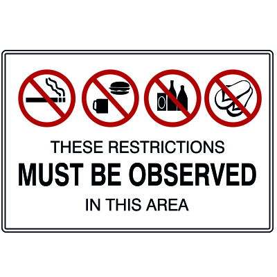 RESTRICTIONS MUST BE OBSERVED